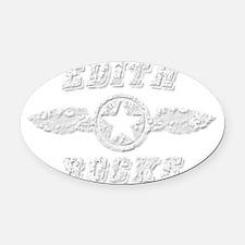 EDITH ROCKS Oval Car Magnet