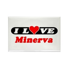 I Love Minerva Rectangle Magnet