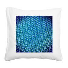 Beetle compound eye, light mi Square Canvas Pillow