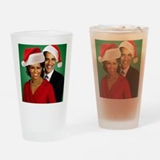 Obama Christmas Drinking Glass