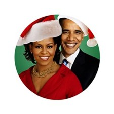 "Obama Christmas 3.5"" Button"