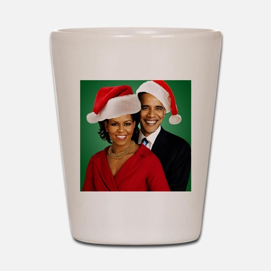 Obama Christmas Shot Glass