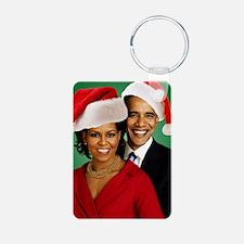 Obama Christmas Keychains