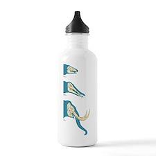 Elephant tusk evolutio Water Bottle