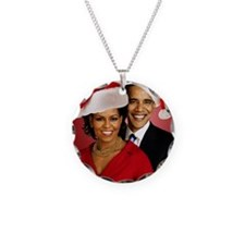 Obama Christmas Necklace