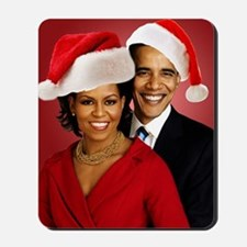Obama Christmas Mousepad