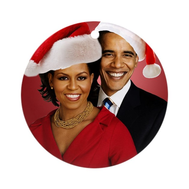 Obama Christmas Round Ornament by Admin_CP14599949