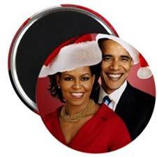 Obama Christmas Magnet