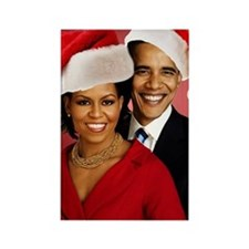 Obama Christmas Rectangle Magnet