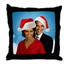Obama Christmas Throw Pillow