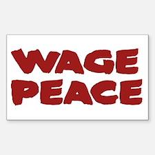 Wage Peace Anti-War Rectangle Decal