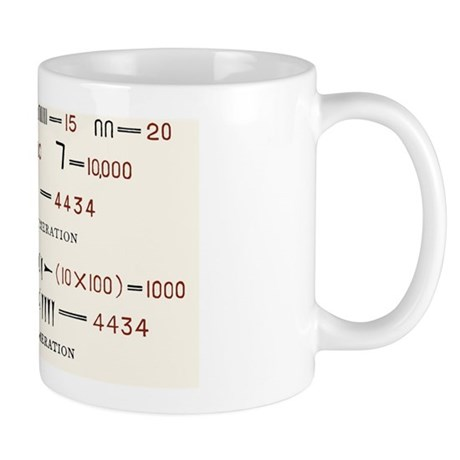 Egyptian and Assyrian counting systems Mug