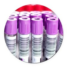 Blood samples Round Car Magnet