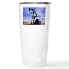 A jack pump used for oi Travel Mug