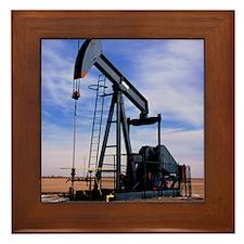 A jack pump used for oil extraction Framed Tile