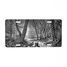 Carboniferous swamp, 19th c Aluminum License Plate