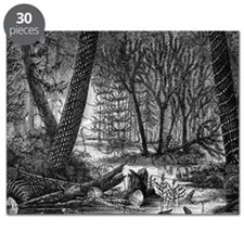 Carboniferous swamp, 19th century artwork Puzzle