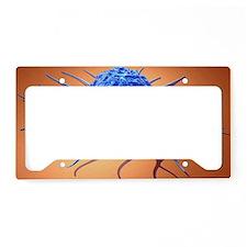 Cancer cell, artwork License Plate Holder