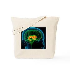 Cingulate gyrus in the brain, artwork Tote Bag
