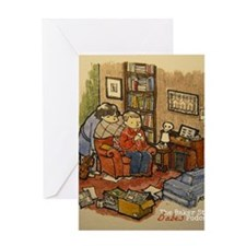 Podcasting In 221b 2 Greeting Card