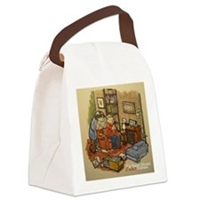 Podcasting In 221b 2 Canvas Lunch Bag