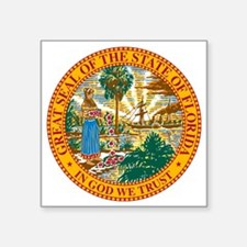 "Great Seal of Florida Square Sticker 3"" x 3"""