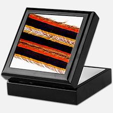 Feather vane, light micrograph Keepsake Box