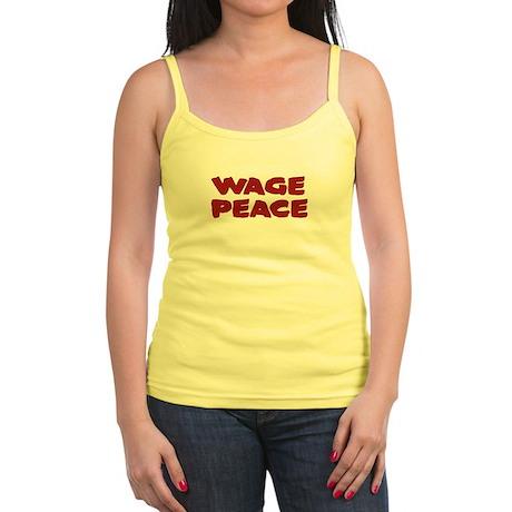 Wage Peace Slogan Jr. Spaghetti Tank
