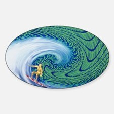 Abstract computer artwork of surfin Decal