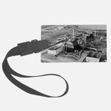 Aerial view of Chernobyl and its Luggage Tag