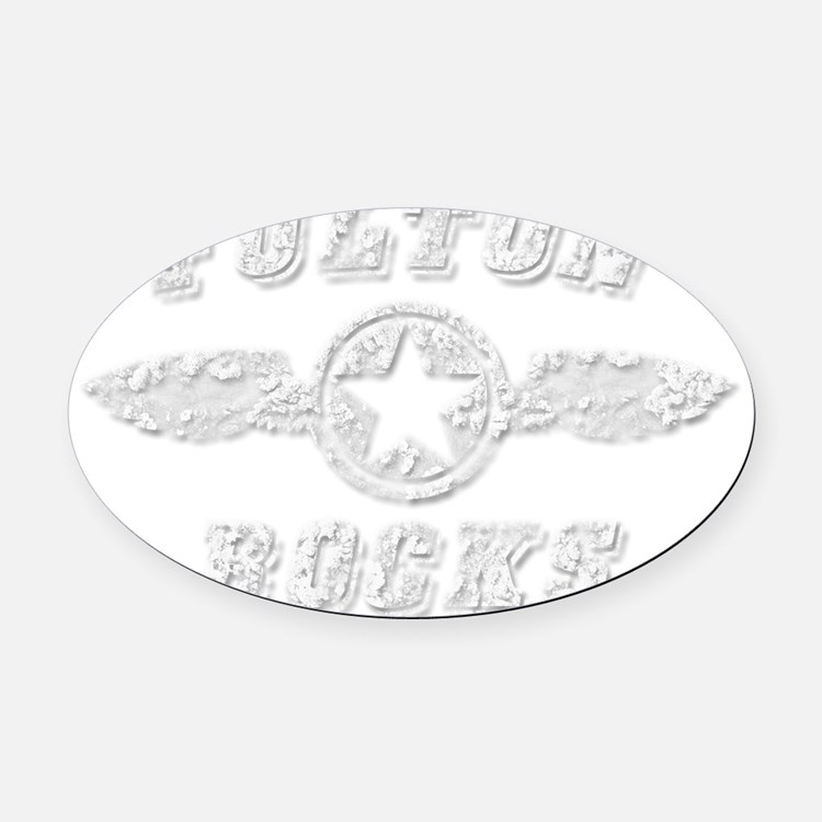 FULTON ROCKS Oval Car Magnet