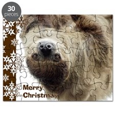 Sloth Xmas Card Snowflakes Puzzle