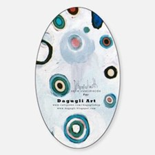 serie cua(dra)do paintings by D. Gu Sticker (Oval)