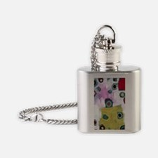 serie cua(dra)do paintings by D. Gu Flask Necklace