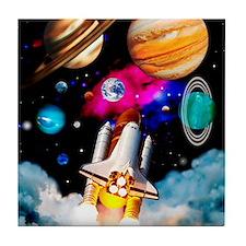 Art of space shuttle exploration Tile Coaster