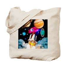 Art of space shuttle exploration Tote Bag