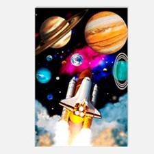 Art of space shuttle expl Postcards (Package of 8)