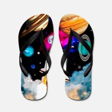 Art of space shuttle exploration Flip Flops