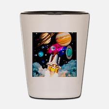 Art of space shuttle exploration Shot Glass