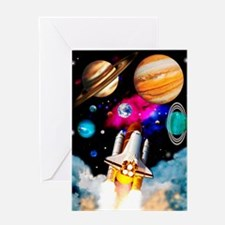 Art of space shuttle exploration Greeting Card