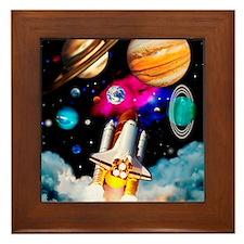 Art of space shuttle exploration Framed Tile