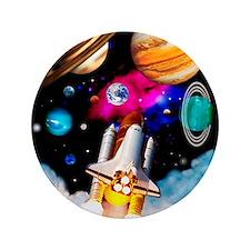 "Art of space shuttle exploration 3.5"" Button"
