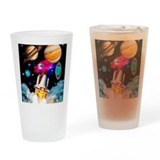 Art of space shuttle exploration Drinking Glass