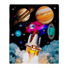 Art of space shuttle exploration Throw Blanket