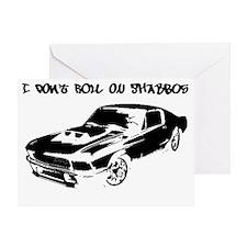DontRoll-Car-black Greeting Card