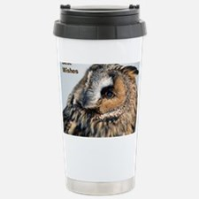 Eagle Owl Greeting Card Travel Mug