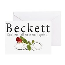Beckett Dont ever call me a muse aga Greeting Card