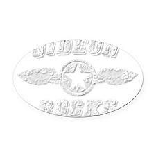 GIDEON ROCKS Oval Car Magnet