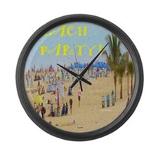 Beach Party Large Wall Clock