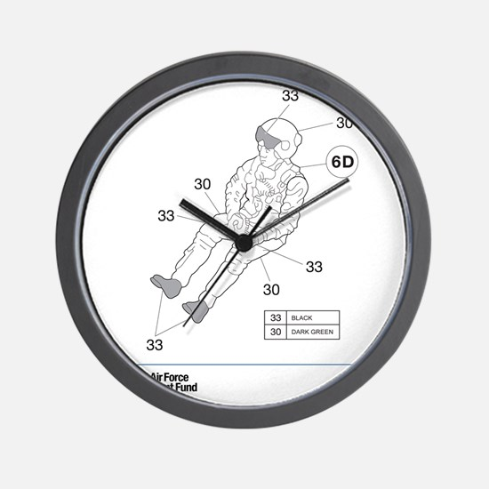 Hawk Pilot Wall Clock